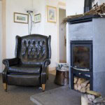 Woodburning stove in Arran holiday cottage