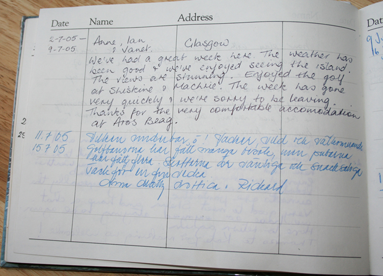 Visitor Comments Aros Beag